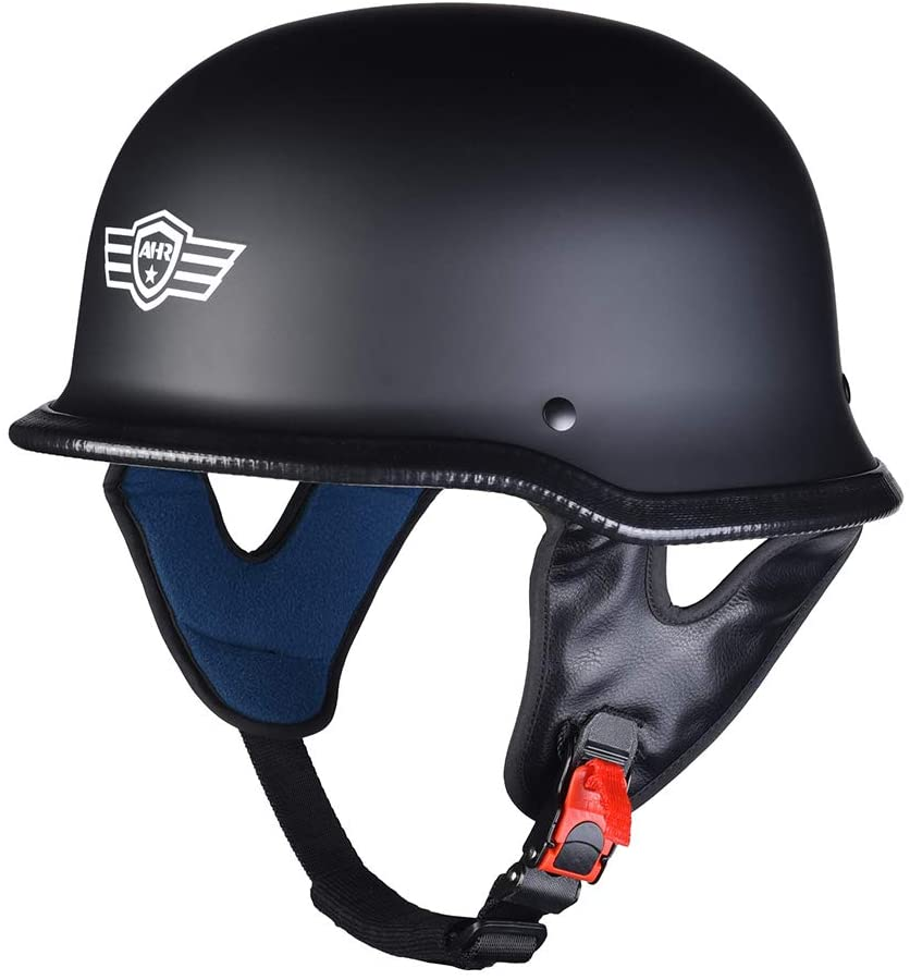 AHR RUN-G DOT German Style Motorcycle Half Helmet XL