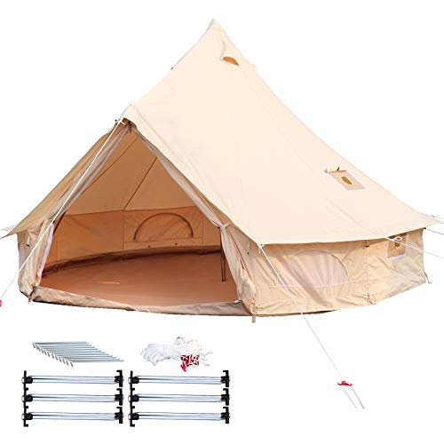 Happybuy Bell Tent 10-12 Persons Canvas Tent