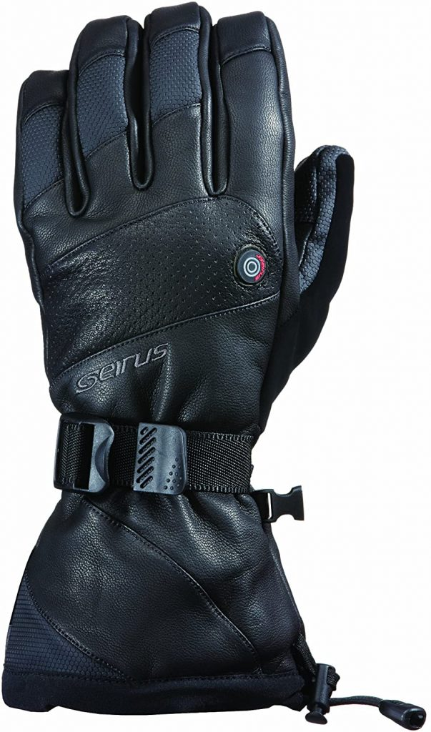 Seirus Innovation 1098 Mens Heat Touch Inferno Rechargeable Heated Cold Weather Gloves