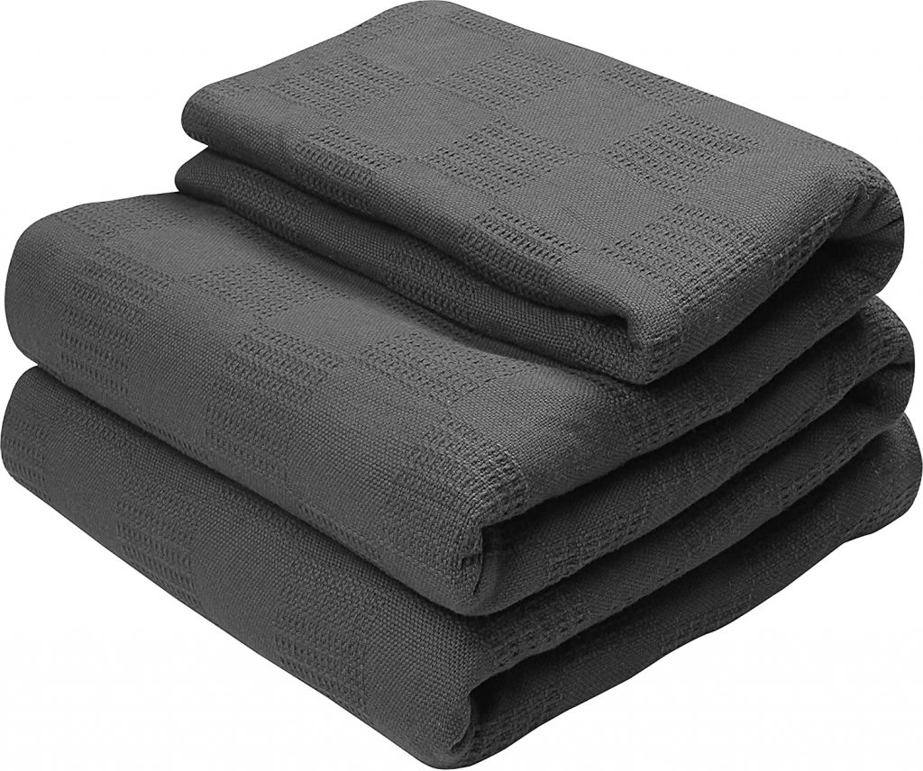 Utopia Bedding Premium Summer Cotton Blanket Queen Grey - Soft Breathable Thermal Blanket